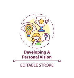 Developing a personal vision concept icon vector
