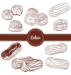 Eclairs vector image