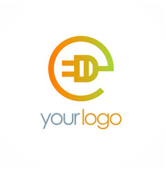 electric cable hub logo vector image