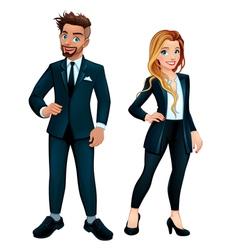 Elegant boy and girl vector image