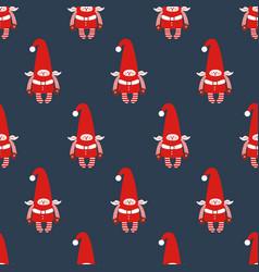 elf seamless pattern vector image