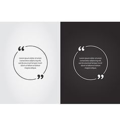 Empty Quote Template Bubble Template Set vector image