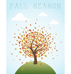 Fall season vintage global composition EPS10 file vector image