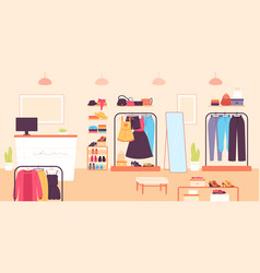 fashion store clothing retail shop for women vector image