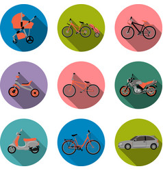 Flat transport icon vector