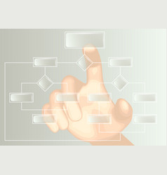 flowchart and hand vector image