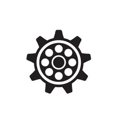gear icon design template isolated vector image