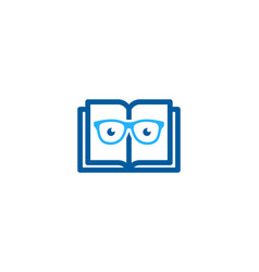 Geek book logo icon design vector