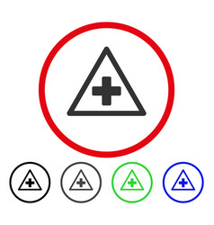 Health warning rounded icon vector