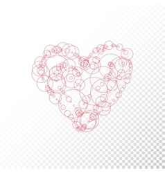 Heart with circle vector