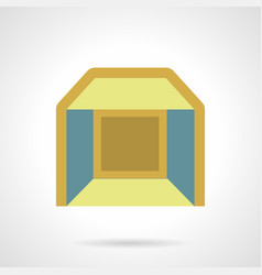 indoor pavilion flat color icon vector image