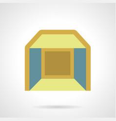 Indoor pavilion flat color icon vector