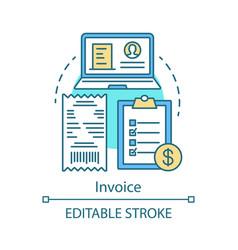 Invoice concept icon vector