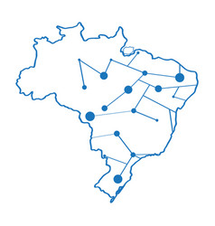 isolated map of brazil vector image