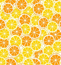 Lemons and oranges slices seamless pattern vector