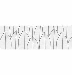 line black white and nature background vector image