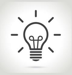 line silhouette light bulb vector image