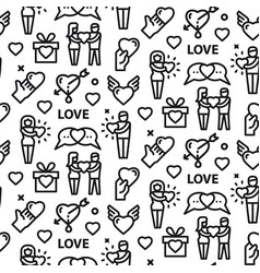 love and relationships seamless pattern vector image