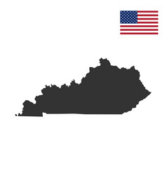 Map us state kentucky vector