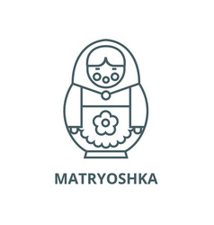 Matryoshka line icon linear concept vector