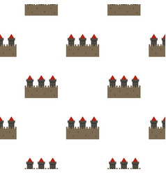 medieval fortification pattern seamless vector image