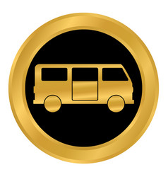 minibus button on white vector image
