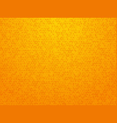 orange triangle mesh pattern background vector image