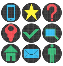 Pixel website icons vector image