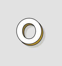 pop art logo letter o vector image