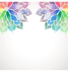 rainbow watercolor painted flowers on white vector image
