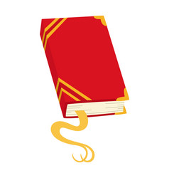 Red book icon notebook with bookmark vector