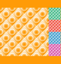repeatable pattern tiles with circle over square vector image