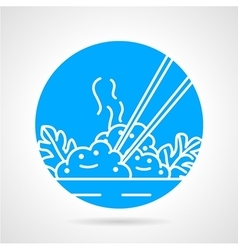 Rice dish abstract icon vector image