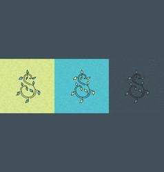 s logo organic vector image