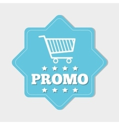 Shopping promo colorful label tag vector