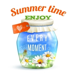 Summer Landscape Jar vector image