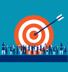 Target customer business for marketing people vector