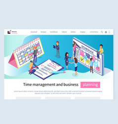 time management and business planning calendars vector image