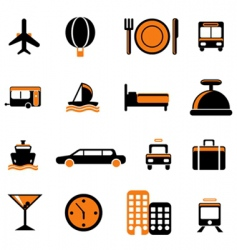 travel service icon vector image