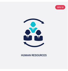 two color human resources icon from concept vector image