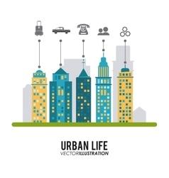 Urban life design vector