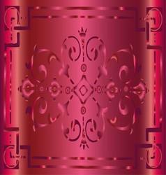 Vintage Pink Background Design with Floral Border vector