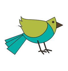 white background with cartoon bird vector image