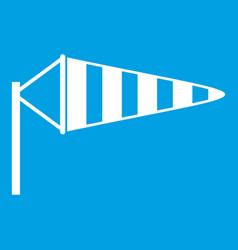 windsock icon white vector image