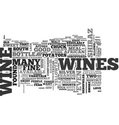 wine for the rest of us text word cloud concept vector image
