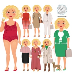 Woman with apple figure vector image vector image