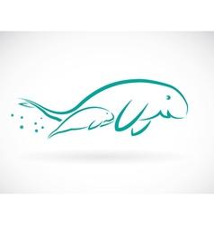 Dugongs vector image vector image