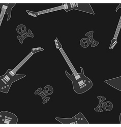 guitar seamless 6 vector image vector image
