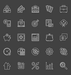 investment and business outline icons vector image
