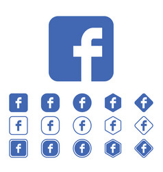 set of facebook flat icon on a white background vector image